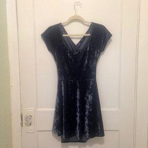 Velvet Cross Back Skater Dress